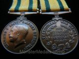 MINIATURE WW1 TERRITORIAL FORCE WAR MEDAL